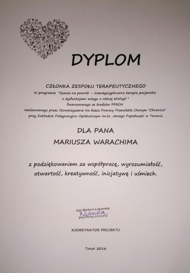 dyplom zajęcia hortiterapii